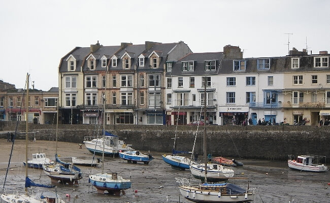 Waterfront buildings in Ilfracombe